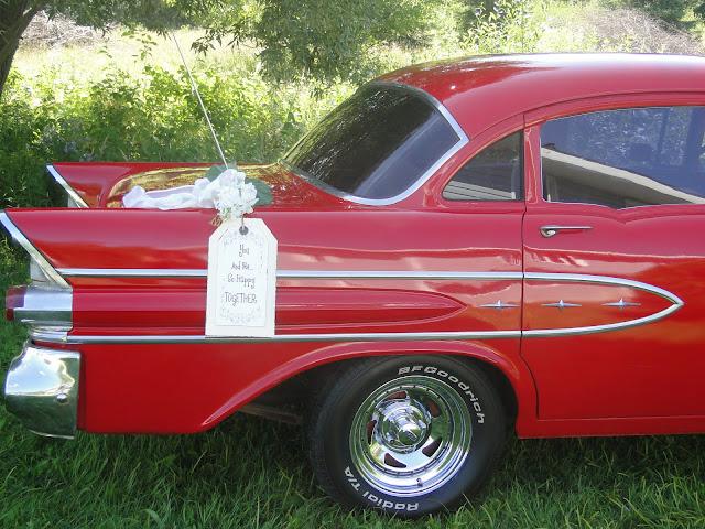 Red 1957 Pontiac vintage car