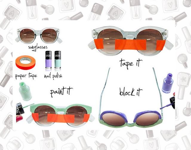 Óculos, esmalte, DIY