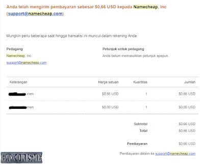 Nomor Resi Pembayaran Paypal