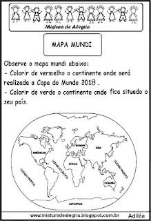 Copa mundial e mapa mundi
