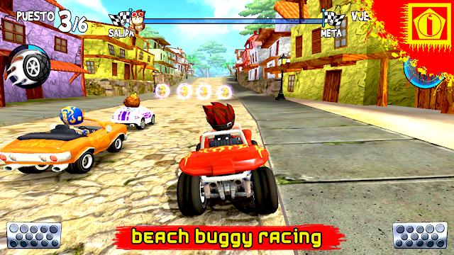 تحميل لعبة سباق السيارات الممتعة BEACH BUGGY RACING  مهكرة اخر اصدار