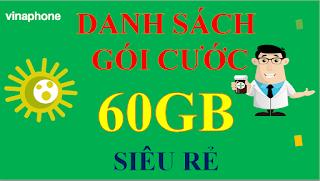 Gói cước 60GB VinaPhone