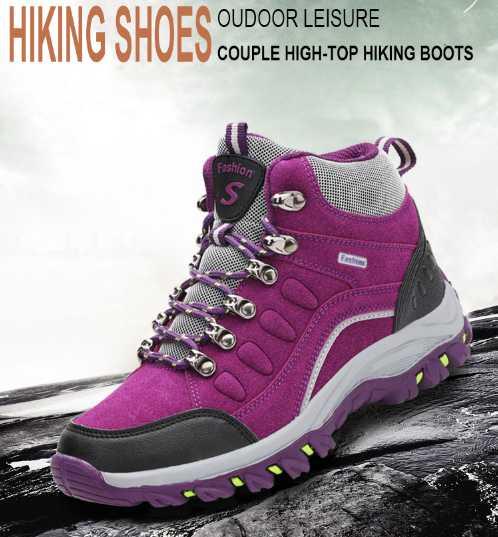 Hiking Sports Men Shoes Treking Women Boots Waterproof Nubuck High Top unisex shoes