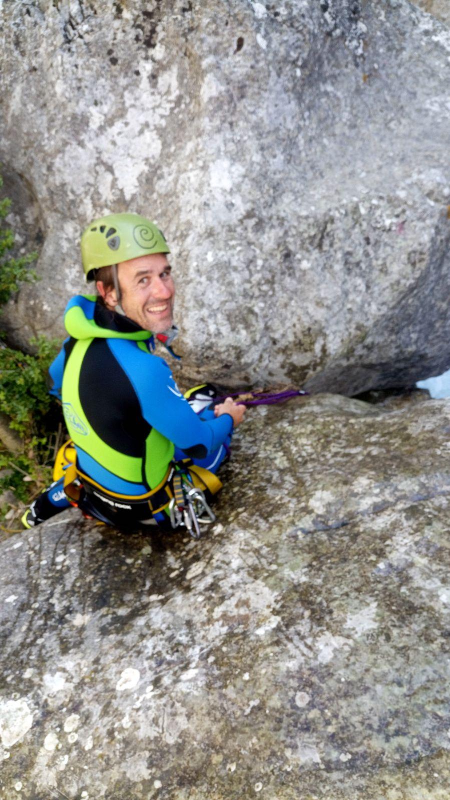 David Carretero, guia de barrancs i muntanya
