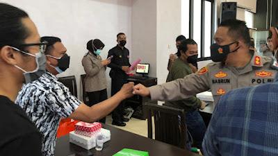 Silaturahmi Jurnalis dan Polresta Banyuwangi untuk Kokohkan Sinergitas Hadapi Pandemi Covid-19