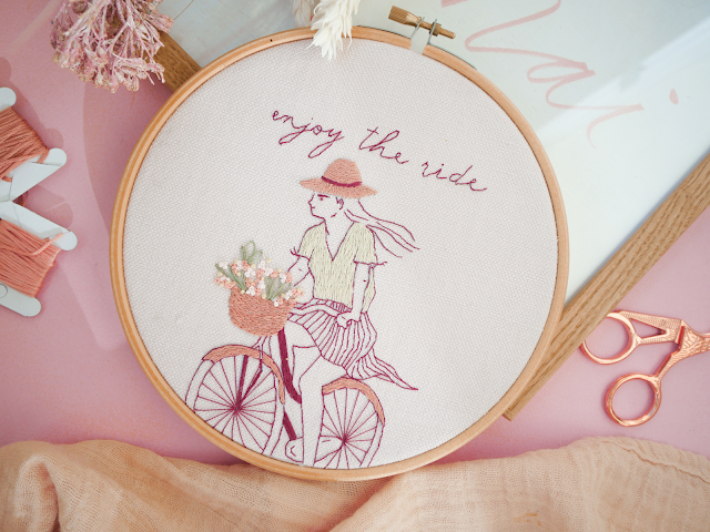 modèle de broderie Enjoy the ride - #marionromainpatterns