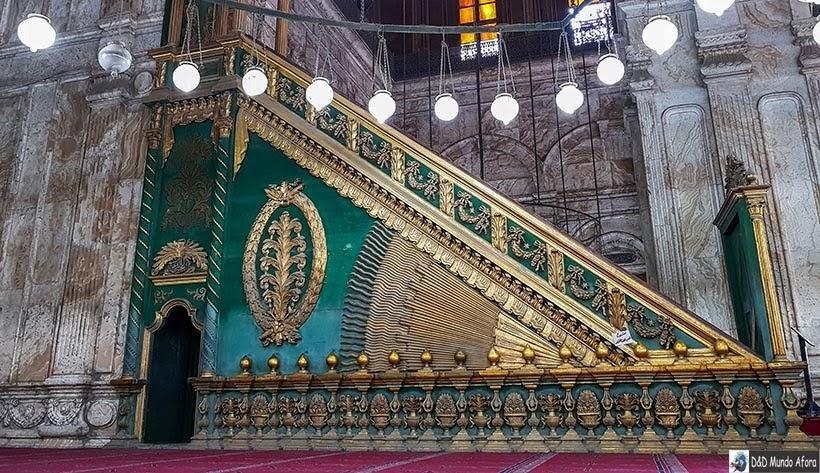 Detalhe do Mesquita de Mohamed Ali na Cidadela de Saladino