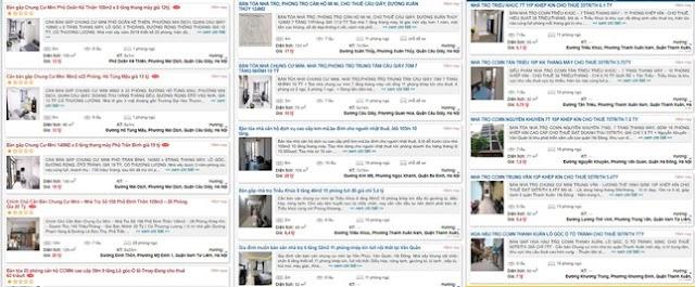 Rao bán nhà trọ, chung cư mini ở Hà Nội