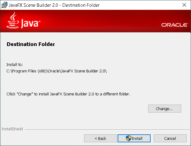 Step 2 - JavaFX Scene Builder 2.0 on Windows