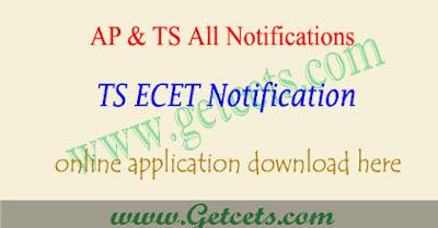 TS ECET 2019 notification, TS ECET application form 2019,ts ecet notification 2019