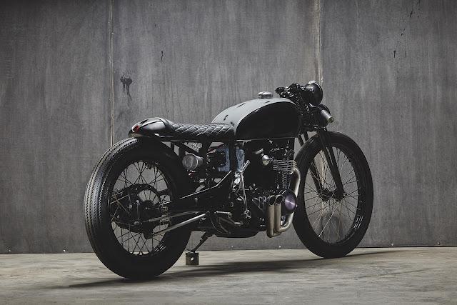 Honda CB550 By Pop Bang Classics Hell Kustom