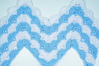 5 - CROCHET IMAGEN Puntada zig zag en abanicos a crochet y ganchillo. Majovel crochet.
