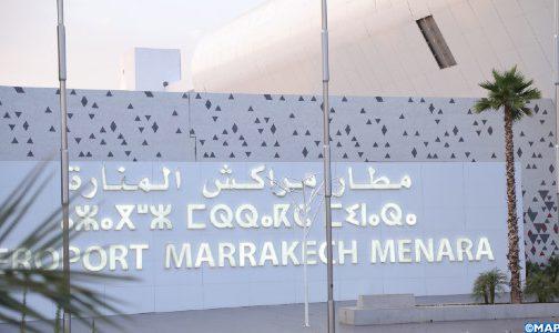 انخفاض حركة النقل الجوي بنحو 86 بالمئة بمطار مراكش المنارة في يناير الماضي