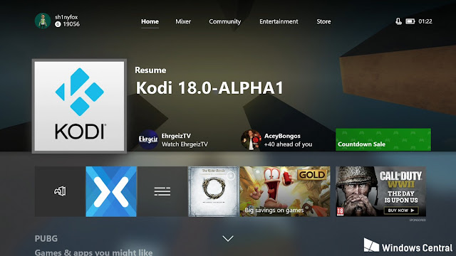 KODI disponible para XBOX ONE
