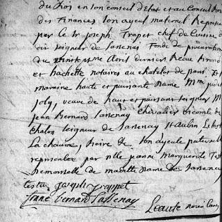 Extrait acte de baptême de Judith Bernard de Sassenay