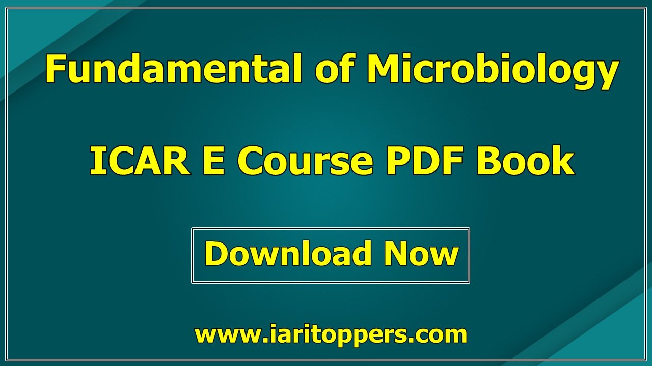 Fundamentals Of Microbiology ICAR e course PDF Book Download E Krishi Shiksha