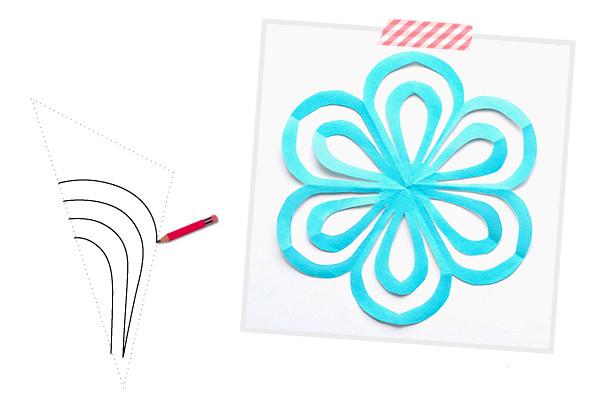 Схемы снежинок (шаблоны) для вырезания к новому году