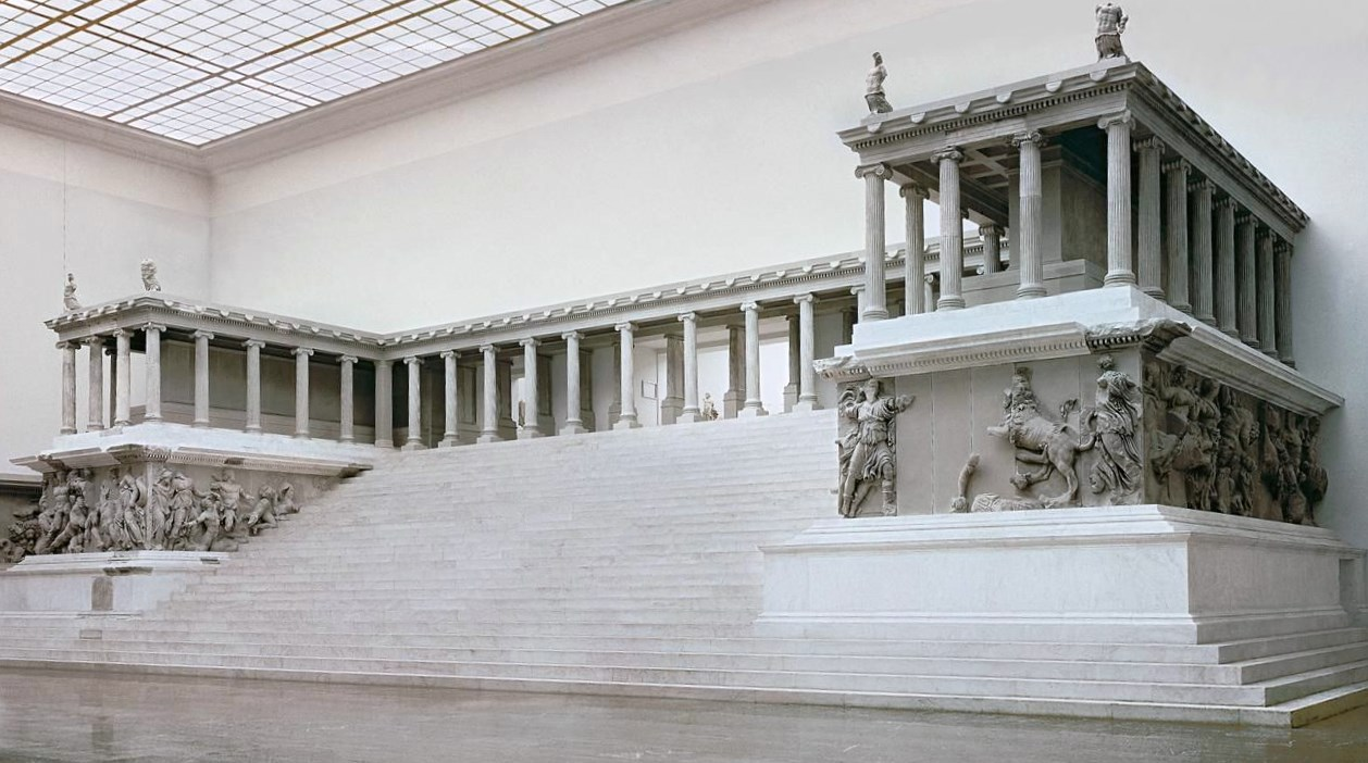 The Altar of Zeus and Athena, also know as Pergamon Altar in Greek Context.
