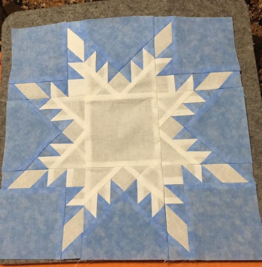 Feathered Frost Quilt designed by Peggy of AQSblog