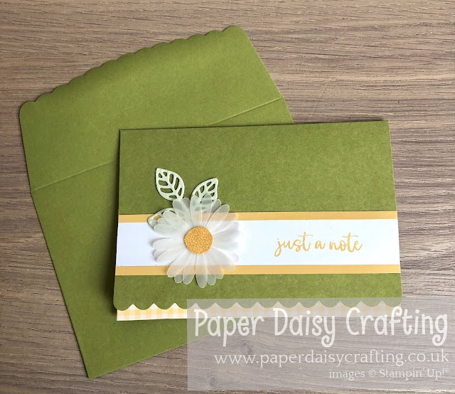 Scalloped notecards Medium daisy punch Stampin Up
