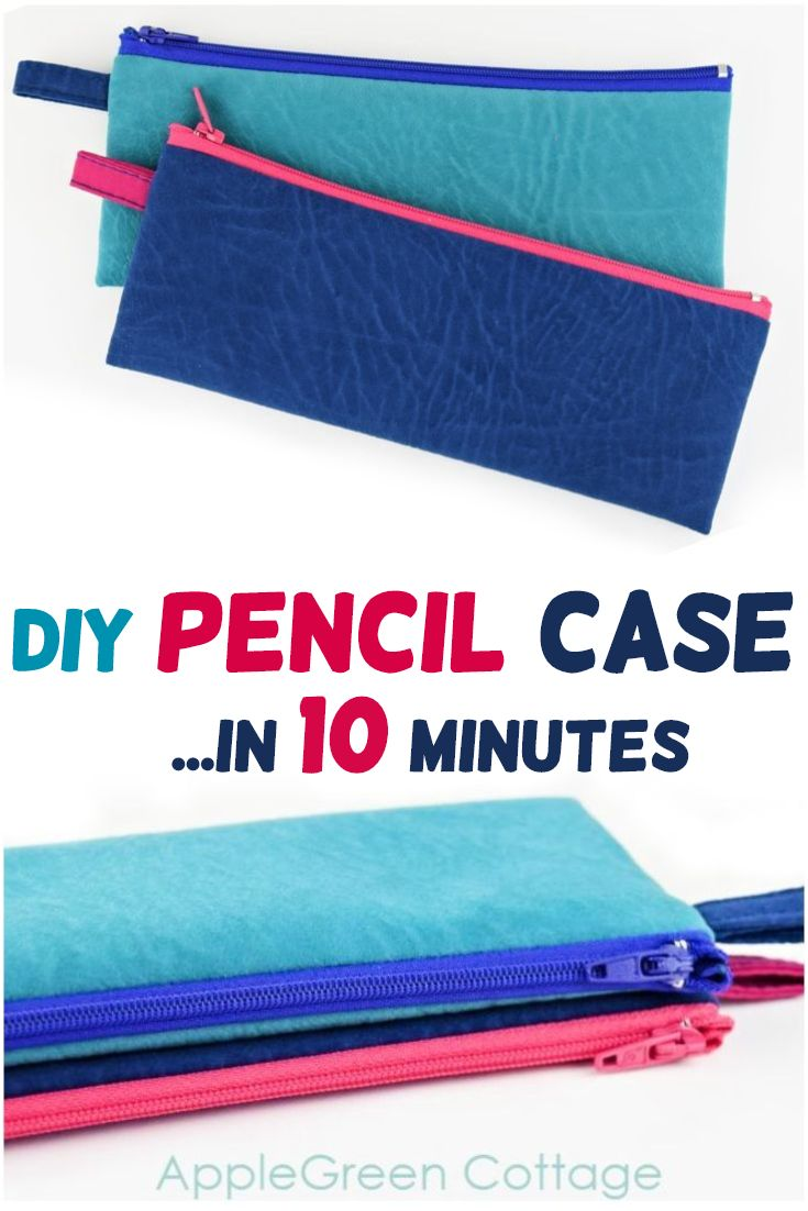 Diy Pencil Case - Easy And Quick! - AppleGreen Cottage