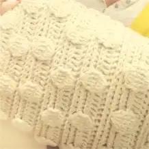 Cojín en Punto Burbuja a Crochet