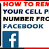 How Do I Remove My Phone Number On Facebook
