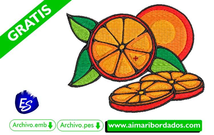 Rodajas de naranja para bordar a máquina DESCARGA GRATIS