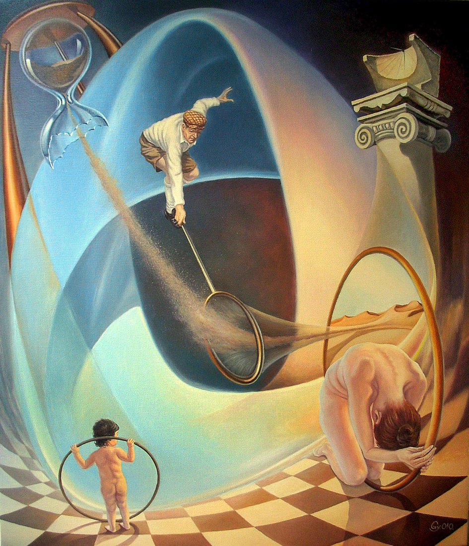 04-Trying-to-Stop-Time-Gyuri-Lohmuller-Surreal-Oil-Paintings-full-of-Meaning-www-designstack-co