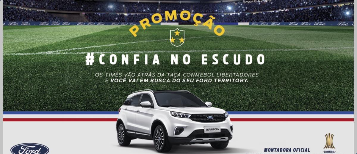 Promoção Confia no Escudo Ford Libertadores Concorra Ford Territory