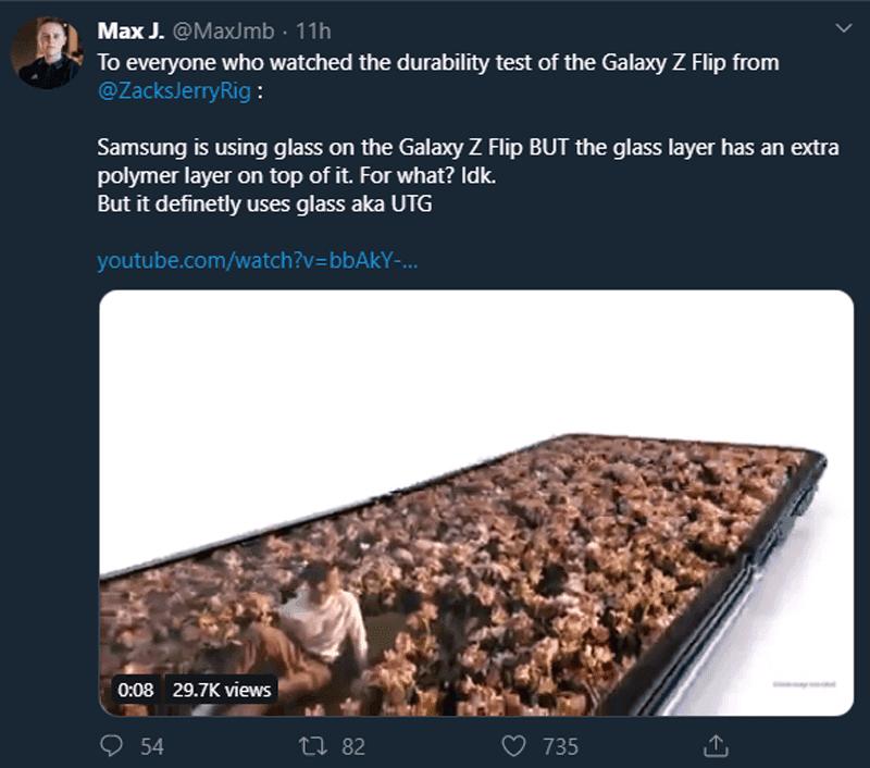Confirmed, it is glass