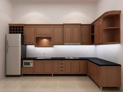 kitchen set mewah jati