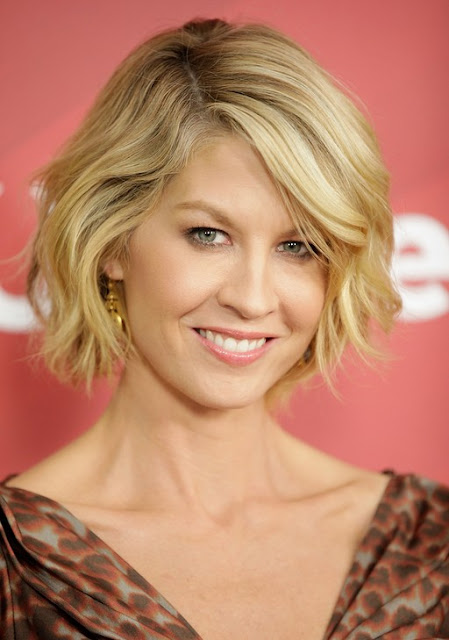 Short Blonde Cute with Wavy Bob Hairstyle