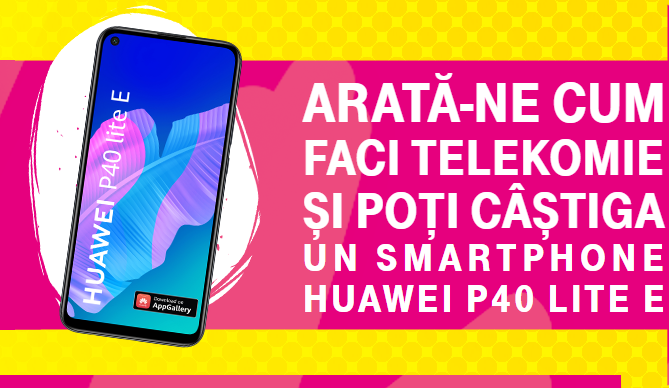Castiga un smartphone HUAWEI P40 LITE E - concurs - telekonomie - premiu - castiga.net