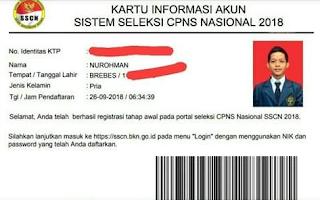 tips melakukan pendaftaran di sscn bkn go id data dokumen saat mendaftar sscn kartu informasi akun sscn 2018