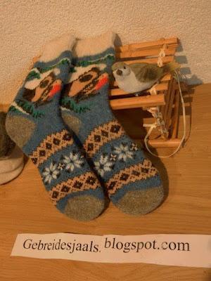 Dikke wollen sokken.