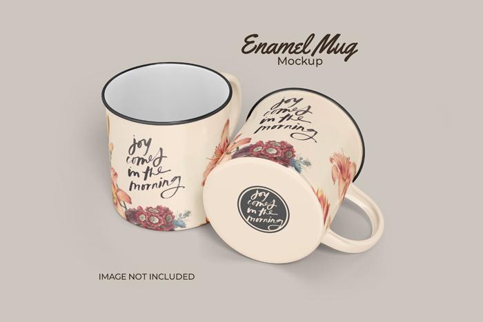 Classic Enamel PSD Mug Mockup