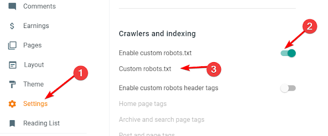 blogger-blog-crawlers-and-indexing-setting