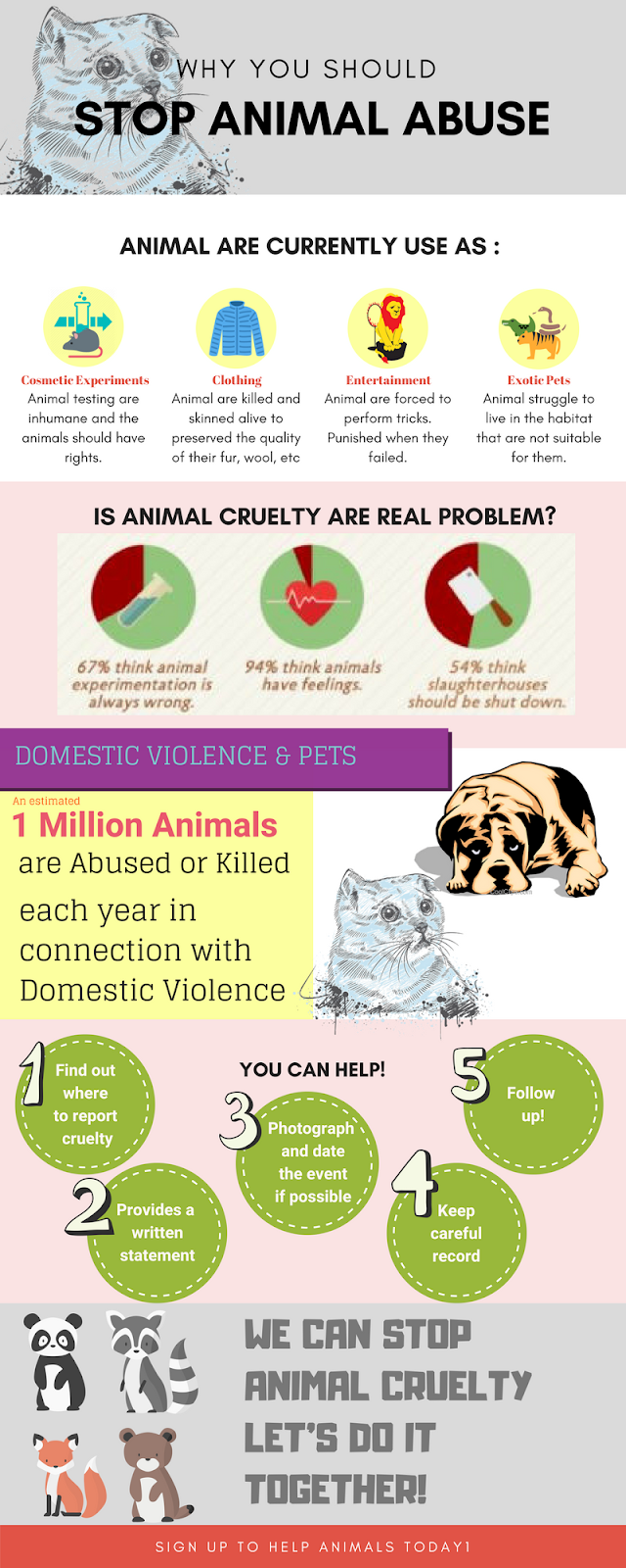why animal cruelty should be stopped If you don't like pictures of animal cruelty being posted on social media, you need to help stop the cruelty, not the pictures you should be bothered that its happening, not that you saw it― marie sarantakis.