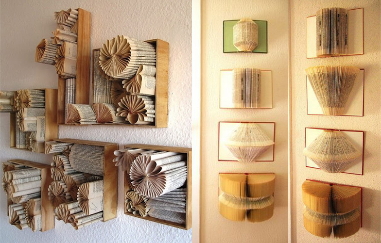 Icono interiorismo especial sant jordi decoraci n con libros for Decoracion con libros