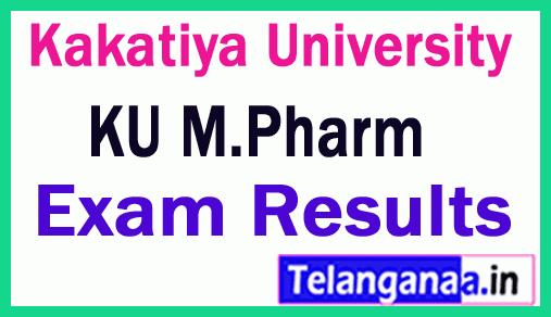 Kakatiya University M Pharm Exam Results