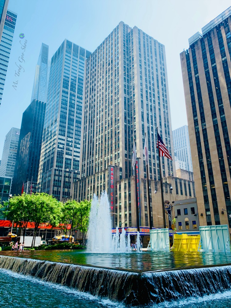 Make a wish at the fountain across from Radio City Music Hall in New York City | Ms. Toody Goo Shoes