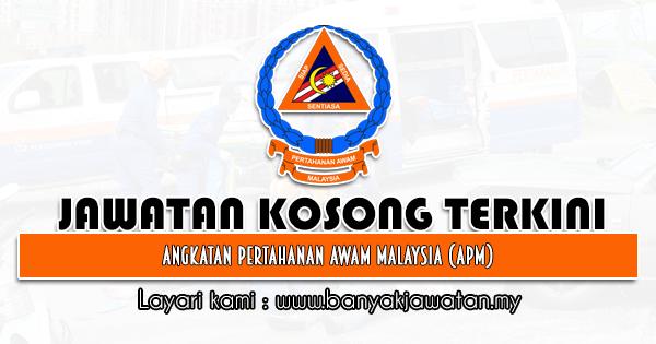 Jawatan Kosong Kerajaan 2021 di Angkatan Pertahanan Awam Malaysia (APM)