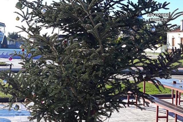 Έγινε και αυτό: Έκλεψαν τον στολισμό από το χριστουγεννιάτικο δέντρο στο Κουρτάκι του Άργους