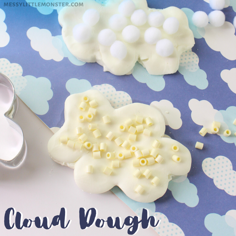 Cloud Dough Recipe and Sensory Cloud Activity