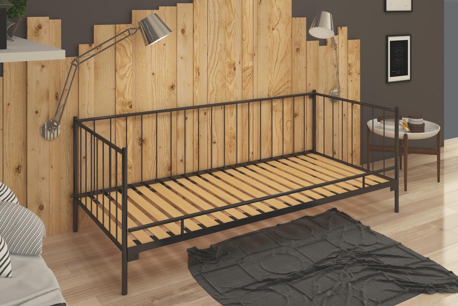 Łóżko metalowe sofa wzór 3