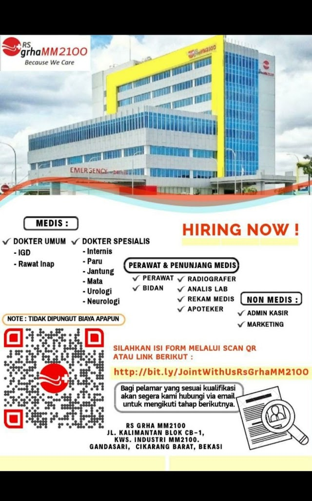 Loker Dokter RS GRHa MM2100 Cikarang Barat, Bekasi