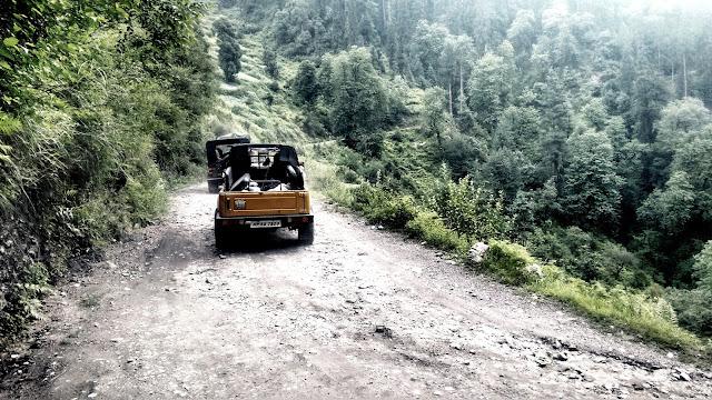 Muddy roads to Jalori jot