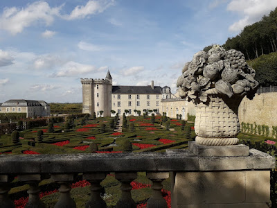 The gardens at chateau de Villandry in the Loire Valley
