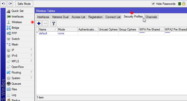 MikroTik Wireless Security configuration - ISP Learn (Routers